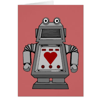 Robot locamente enamorado tarjetas