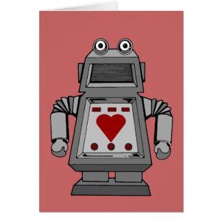 Robot locamente enamorado tarjeta de felicitación
