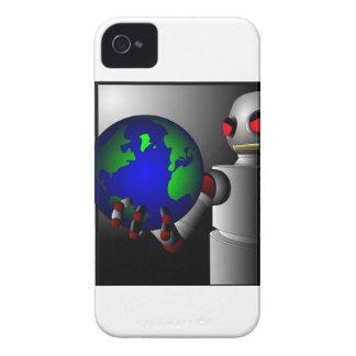 Robot malvado iPhone 4 protectores