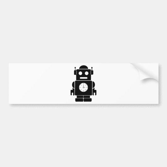 robot negro pegatina para coche