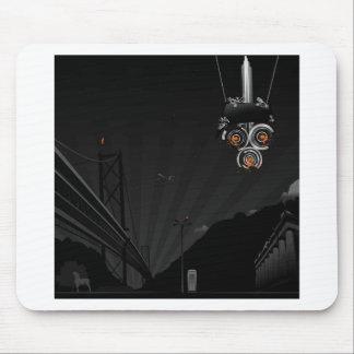 Robot pintado oscuridad fresca abstracta alfombrilla de ratón