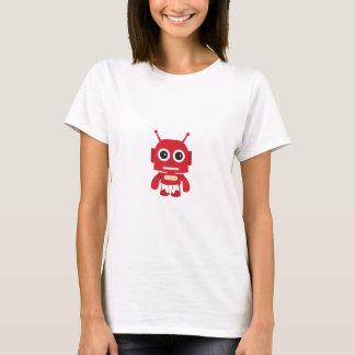 Robot retro rojo camiseta
