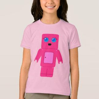 Robot rosado camiseta