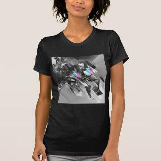Robótica fresca abstracta de la transformación camiseta