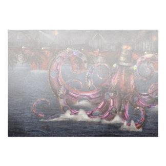 Roboticus del magnificus de Steampunk - de Enteroc Invitación Personalizada