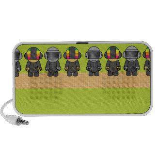 robots del friki en una fila altavoz de viaje