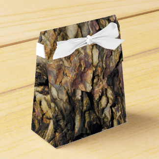 Roca abstracta orgánica caja para regalos