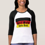 Roca alemana de los chicas camiseta
