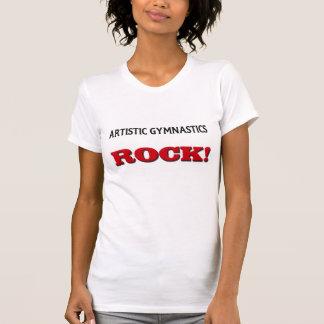 Roca artística de la gimnasia camisetas