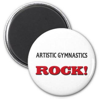 Roca artística de la gimnasia imán para frigorífico