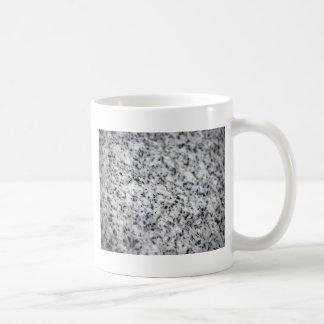 Roca blanco y negro del granito taza de café