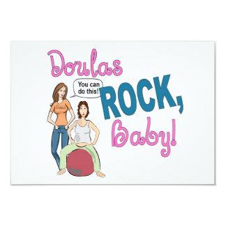 ¡Roca de Doulas! tarjeta plana w/envelope Invitación 8,9 X 12,7 Cm