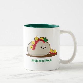 Roca de Jingle Bell Taza De Dos Tonos