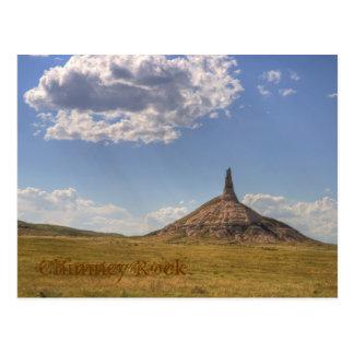 Roca de la chimenea, postal de Nebraska