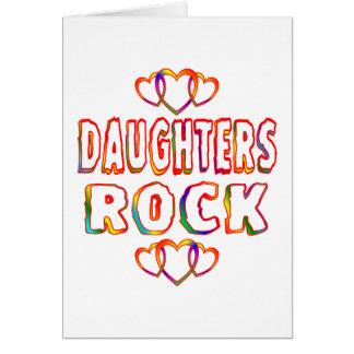 Roca de las hijas tarjeta de felicitación