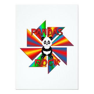 Roca de las pandas invitación 13,9 x 19,0 cm