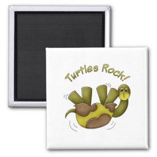 Roca de las tortugas imanes de nevera