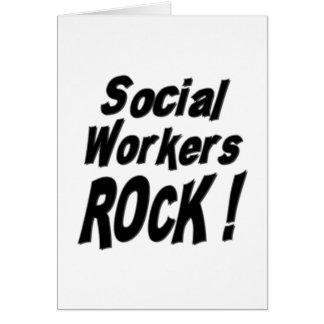 ¡Roca de los asistentes sociales! Tarjeta de felic