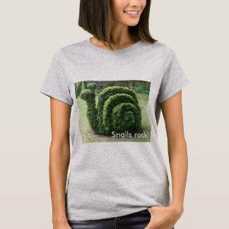 ¡Roca de los caracoles! Camiseta del caracol de