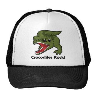 ¡Roca de los cocodrilos! Gorros Bordados