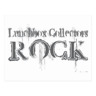 Roca de los colectores de la caja del almuerzo tarjetas postales