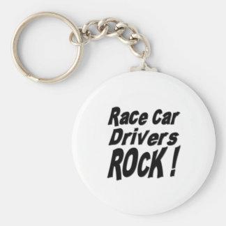 ¡Roca de los conductores de coche de carreras! Llavero Redondo Tipo Chapa