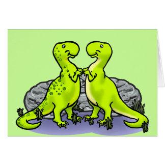 ¡Roca de los dinosaurios! Tarjeta De Felicitación