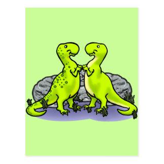 ¡Roca de los dinosaurios! Postal