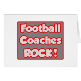 ¡Roca de los entrenadores de fútbol Felicitación