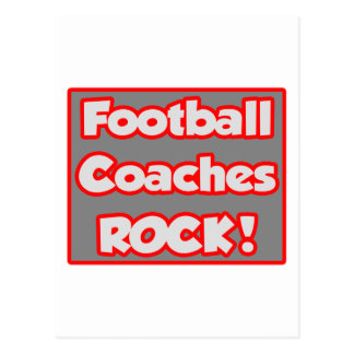 ¡Roca de los entrenadores de fútbol Postal