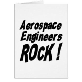 ¡Roca de los ingenieros aeroespaciales! Tarjeta de