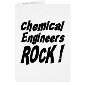 ¡Roca de los ingenieros químicos! Tarjeta de felic