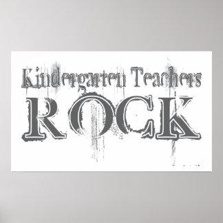 Roca de los maestros de jardín de infancia poster