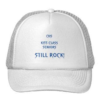 Roca de los mayores de la clase del beso gorros bordados