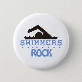 Roca de los nadadores chapa redonda de 5 cm