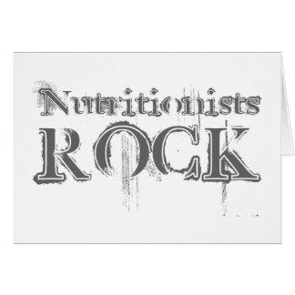 Roca de los nutricionistas tarjeta de felicitación