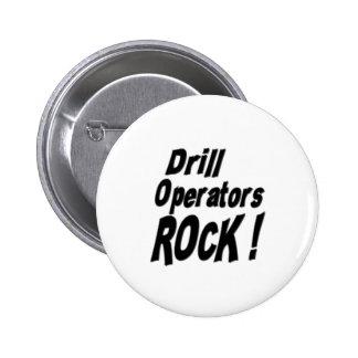 ¡Roca de los operadores del taladro! Botón Pins