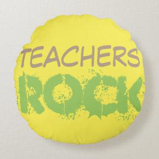 Roca de los profesores cojín redondo