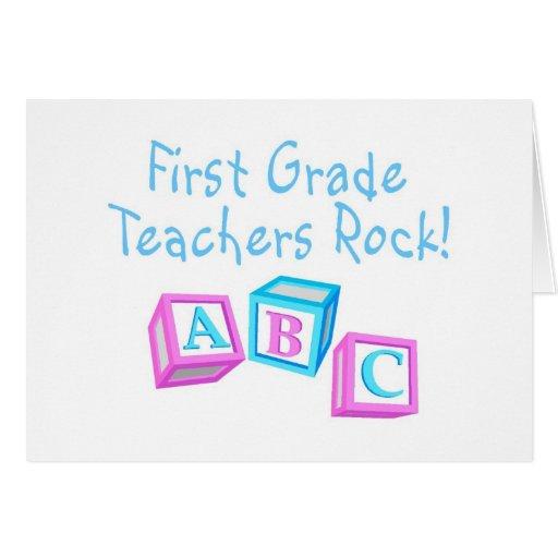 Roca de los profesores del primer grado felicitación