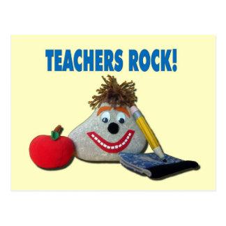 ¡Roca de los profesores! Postal amarilla