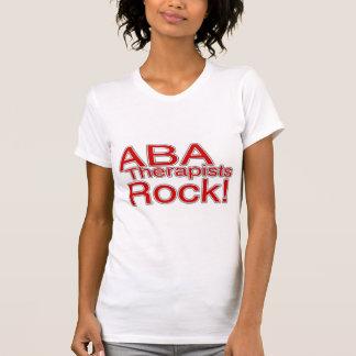 Roca de los terapeutas del ABA (roja) Camiseta