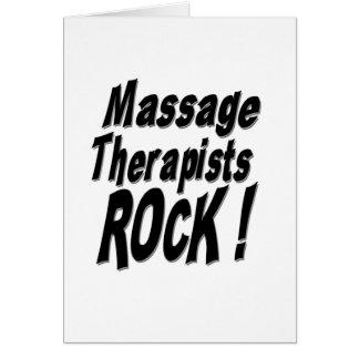 ¡Roca de los terapeutas del masaje! Tarjeta de fel