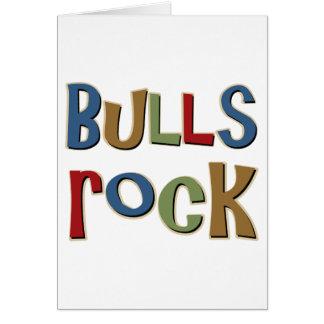 Roca de los toros tarjeta de felicitación