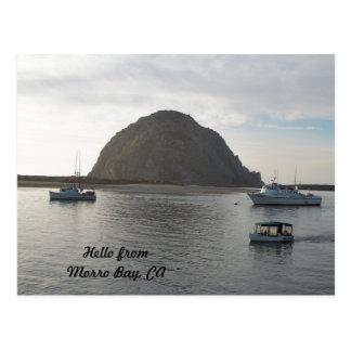 Roca de Morro en la bahía de Morro, CA Postal