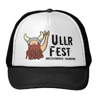 Roca de vikingo del Fest de Ullr en el gorra de Br