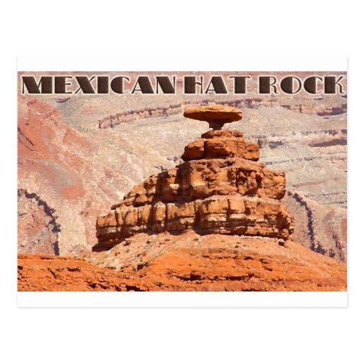 Roca del gorra mexicano tarjetas postales
