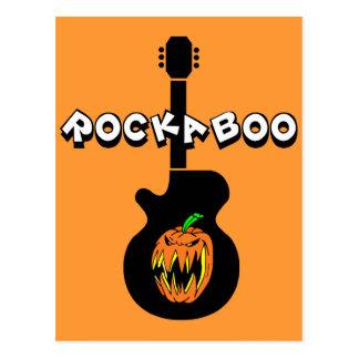 Roca divertida Halloween Postal