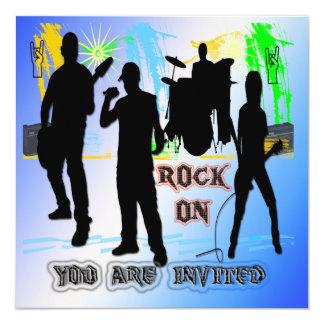 Roca encendido - oscile la invitación de la banda