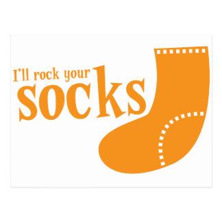 Roca enferma sus calcetines postal
