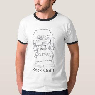 ¡Roca hacia fuera!! Camisetas